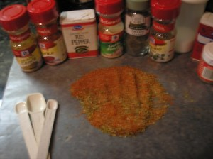 Combine all the seasonings