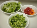 Chop vegetables of your choice with lettuce as the base