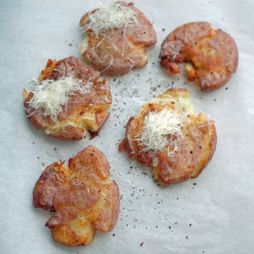 Panfried Smashed Potatoes | The Teacher Cooks