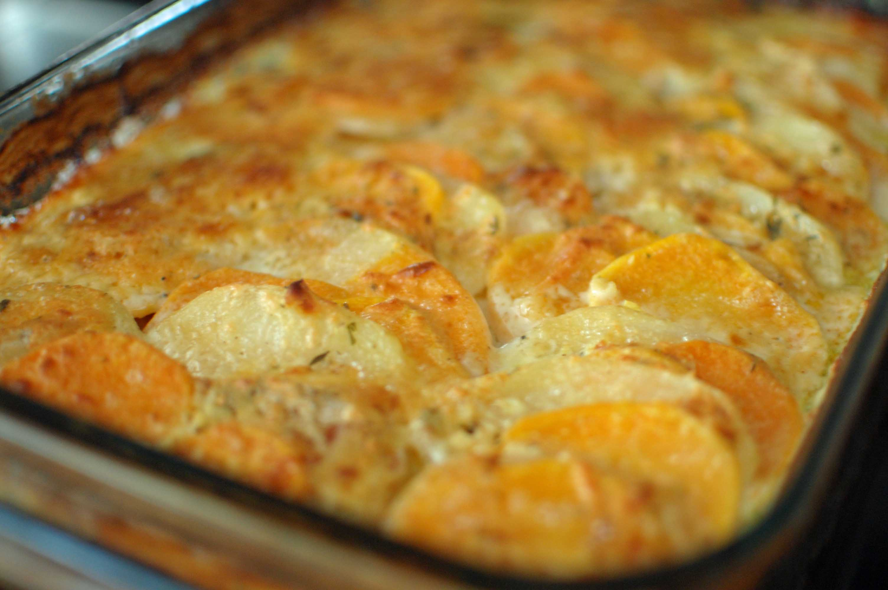 Scalloped Russet and Sweet Potato Gratin with Fresh Herbs | The ...