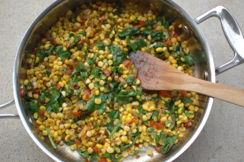 Sauteed corn with Bacon