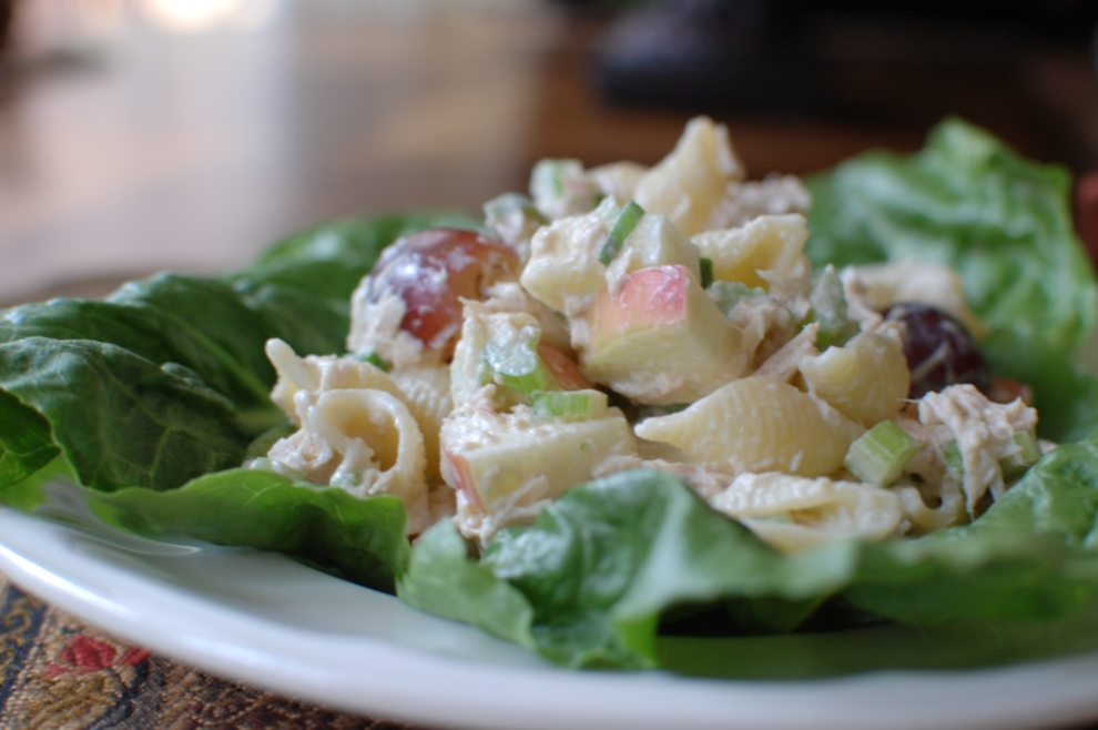Tuna Pasta Salad with apples and grapes