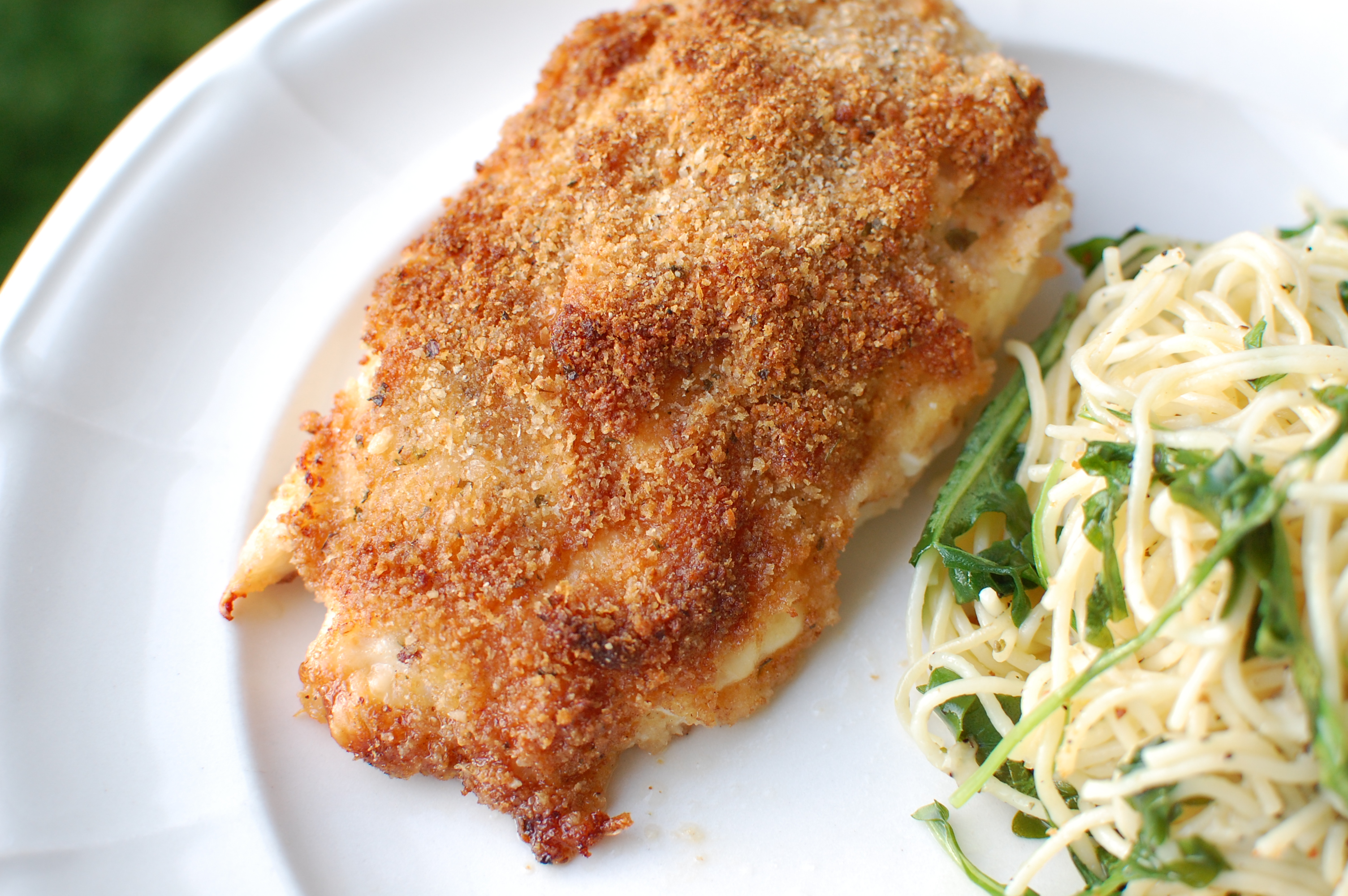 Parmesan-Crusted Chicken with Garlic-Herb Pasta | The Teacher Cooks