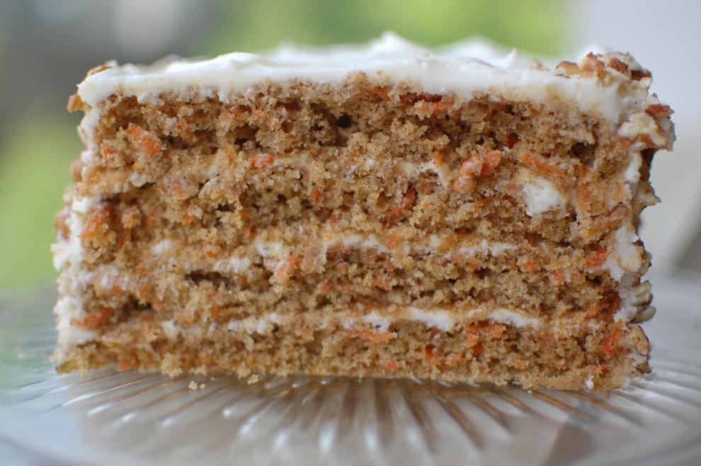 Cut Carrot Cake