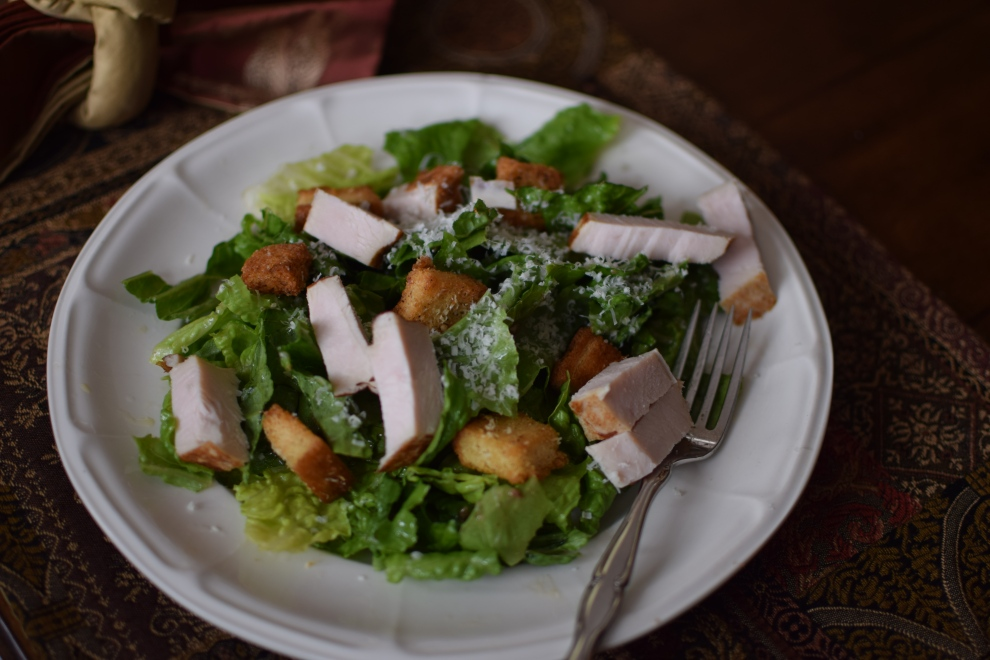 Caesar Salad with turkey