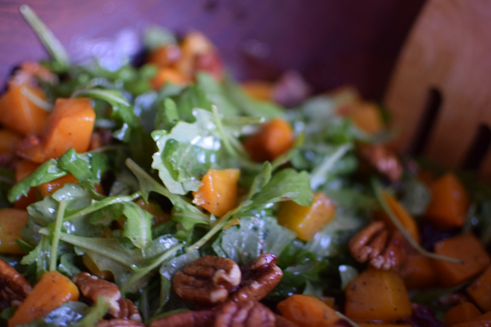 Ina's roasted buttrnut squash salad